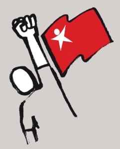 Tipo com bandeira